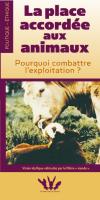 Converture brochure La place accordée aux animaux?
